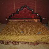 Изголовье кровати, дерево, кожа, подстветка